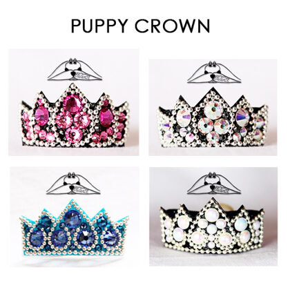 PUPPY CROWN bows